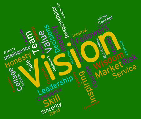 aspire: Vision Word Representing Planning Mission And Aspire Stock Photo