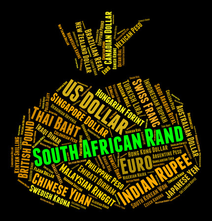 rand: South African Rand Showing Exchange Rate And Wordcloud
