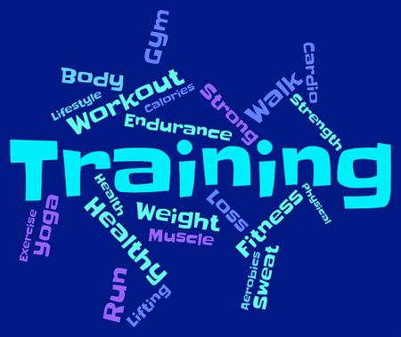 aktywność fizyczna: Słowa szkoleniowe Znaczenie aktywności fizycznej i wordcloud