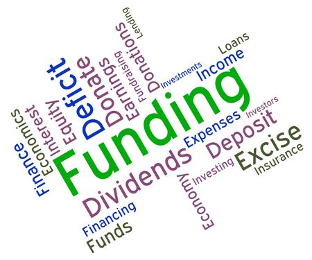 fundraiser: Funding Word Showing Fundraiser Finance And Finances Stock Photo