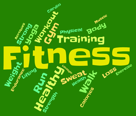 get a workout: Fitness Words Indicating Working Out And Athletic