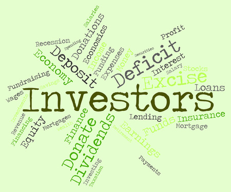 investors: Investors Word Indicating Return On Investment And Shares Investment