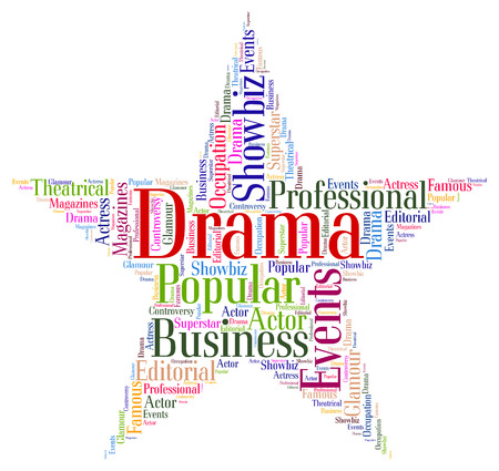 dramas: Drama Star Indicating Words Theatre And Plays Stock Photo