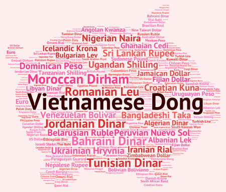 currency exchange: Vietnamese Dong Representing Currency Exchange And Market Stock Photo