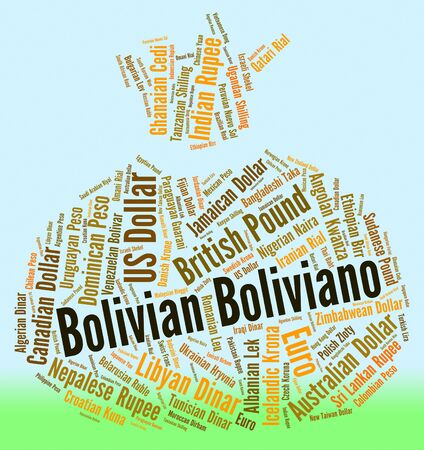 foreign currency: Bolivian Boliviano Showing Foreign Currency And Banknotes