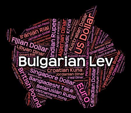 agente comercial: Lev b�lgaro Significado Cambio de divisas y Broker Foto de archivo