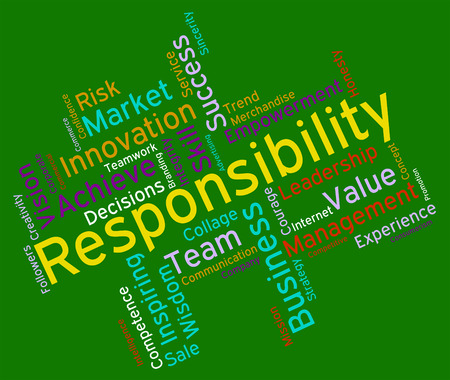 obliged: Responsibility Words Meaning Text Accountabilities And Duties