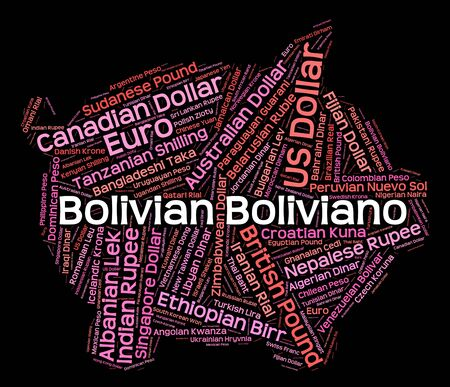 currency exchange: Bolivian Boliviano Representing Currency Exchange And Foreign