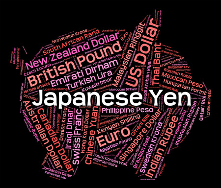 foreign exchange: Japanese Yen Indicating Foreign Exchange And Market Stock Photo