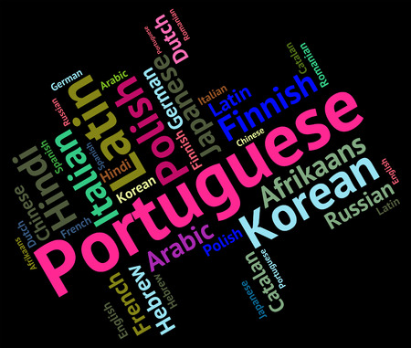 lingo: Portuguese Language Indicating Languages Lingo And Dialect