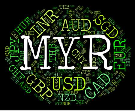 broker: Myr moneda Representando Worldwide Trading Y Broker Foto de archivo