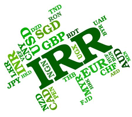 Irr Currency Representing Forex Trading And Broker