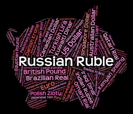 fx: Russian Ruble Meaning Forex Trading And Fx Stock Photo