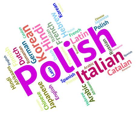 lingo: Polish Language Indicating Wordcloud Communication And Word