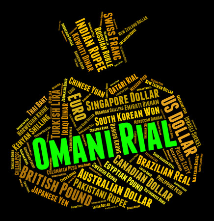 foreign currency: Omani Rial Meaning Foreign Currency And Banknotes Stock Photo