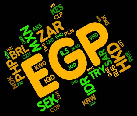 Egp Currency Representing Exchange Rate And Text Stock Photo