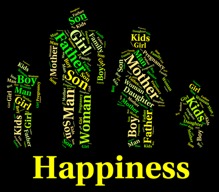 relative: Happiness Family Representing Blood Relative And Offspring Stock Photo