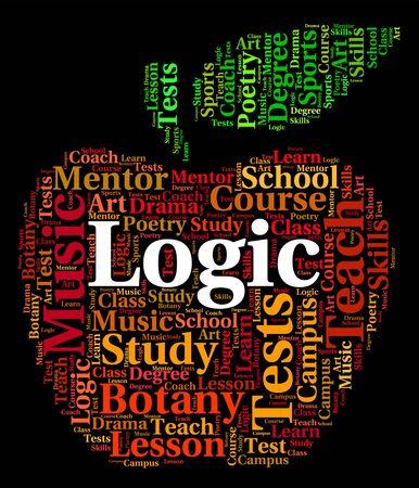 logica: Lógica Palabra Indicando Fuera Trabajo Y Lógicamente Foto de archivo