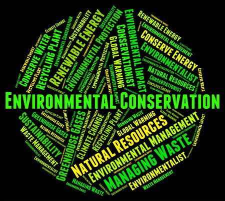 Environmental Conservation Showing Earth Day And Protecting