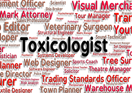 toxicology: Toxicologist Job Indicating Expert Experts And Hiring Stock Photo