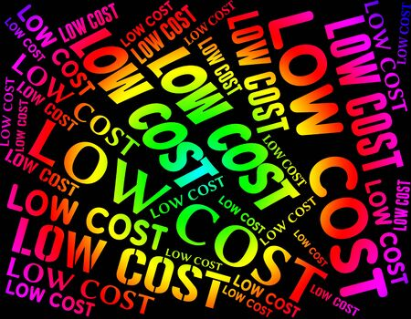 Low Cost Meaning Marked Down And Reduced Stock Photo