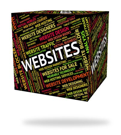 domains: Websites Word Meaning Domains Text And Internet Stock Photo
