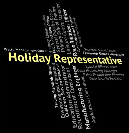 time off: Holiday Representative Showing Go On Leave And Time Off