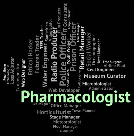 pharmacologist: Pharmacologist Job Indicating Text Hire And Work