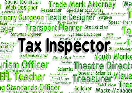 checker: Tax Inspector Representing Job Monitor And Checker