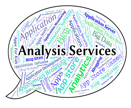 Analysis Services Indicating Data Analytics And Help