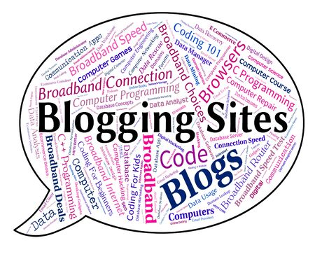 domains: Blogging Sites Meaning Websites Domains And Host