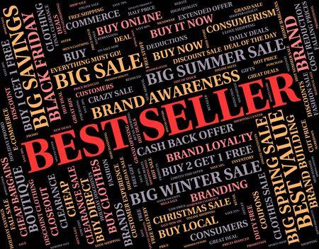vendedores: Top Ventas Mostrando N�mero Uno y texto Foto de archivo