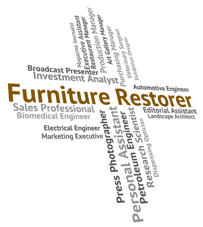 Furniture Restorer Showing Words Employment And Recruitment