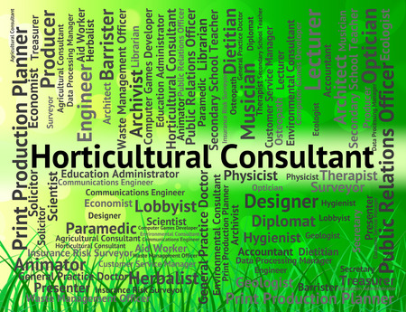 horticultural: Horticultural Consultant Indicating Work Consultants And Agricultural