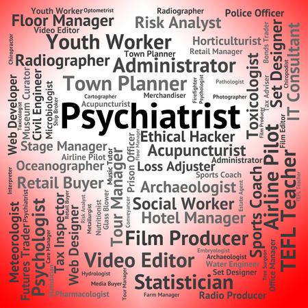 disturbed: Psychiatrist Job Showing Disturbed Mind And Hiring