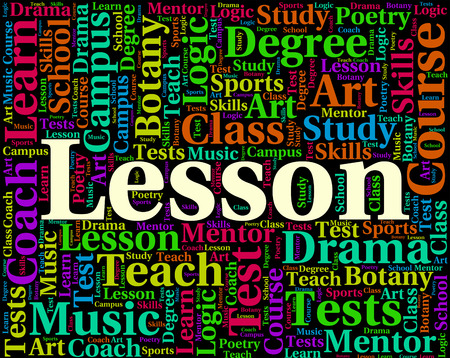 word lesson: Lesson Word Meaning Sessions Lecture And Classroom