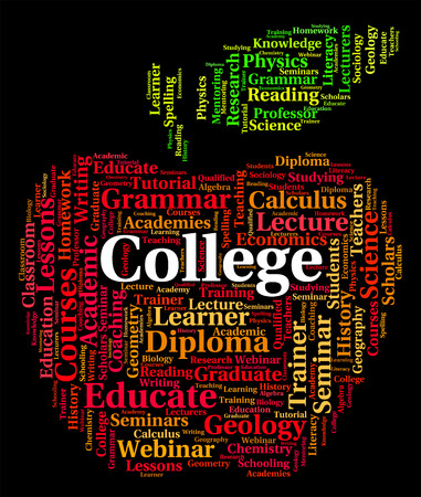institute: College Word Representing Military Academy And Institute