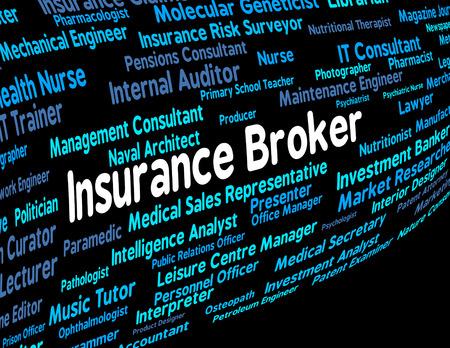 agente comercial: Broker de Seguros Indicando Contratos Contrato y asegura