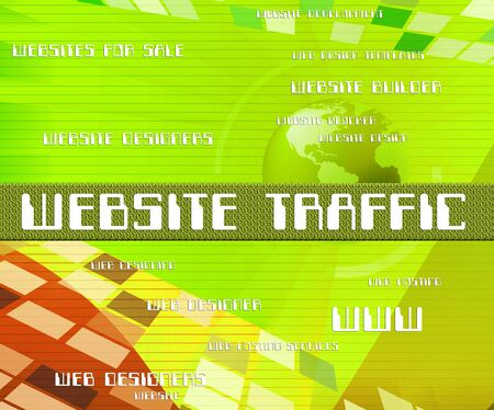 website traffic: Website Traffic Indicating Websites Customers And Domain
