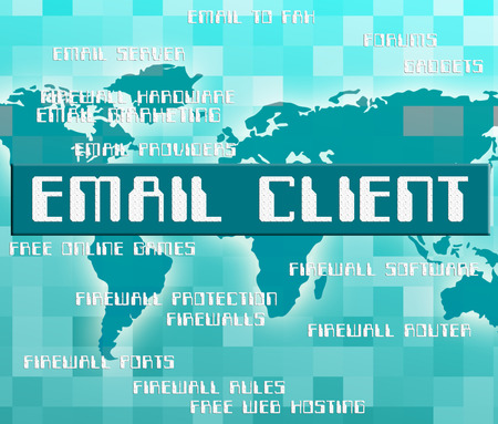 consumers: Email Client Showing Clientele E-Mail And Consumers