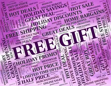 free gift: Free Gift Representing For Nothing And Box Stock Photo