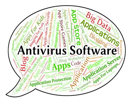 antivirus: Antivirus Software Showing Application Word And Shield