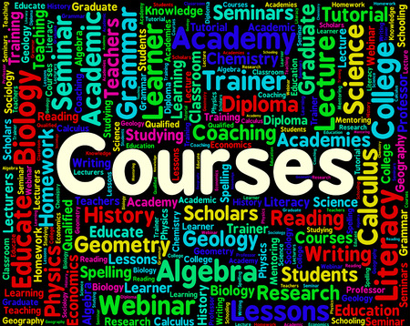 programme: Courses Word Showing School Program And Programme