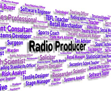 producer: Radio Producer Indicating Jobs Recruitment And Occupations