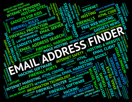 finders: Email Address Finder Indicating Send Message And Addresses