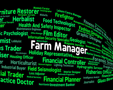 overseer: Farm Manager Indicating Hiring Agricultural And Employer Stock Photo
