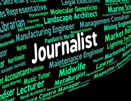 investigative: Journalist Job Indicating Lobby Correspondent And Newspaperwoman