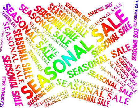 seasonal: Seasonal Sale Representing Savings Offers And Retail