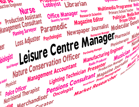 leisure centre: Leisure Centre Manager Meaning Managers Job And Occupation Stock Photo