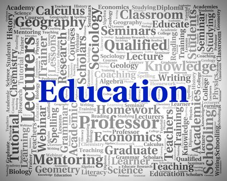 learned: Education Word Showing Learning Develop And Learned